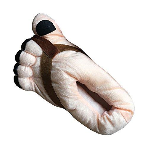 OCHENTA Cosplay para Adultos - Invierno Inicio Zapatillas Para Adultos Marrón(Mujer)