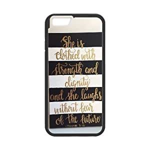 Personalized She is clothed with strength Iphone6 Case, She is clothed with strength Customized Case for iPhone 6 4.7