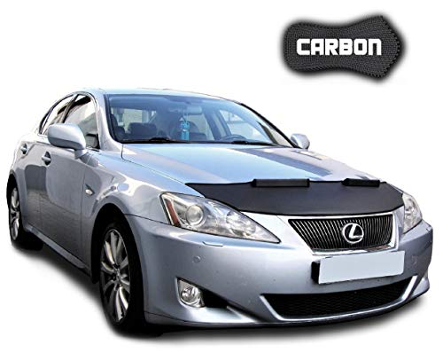 Hood Bra for Lexus IS XE2 CARBON Bonnet Car Bra Front End Cover Nose Mask Stoneguard Protector TUNING