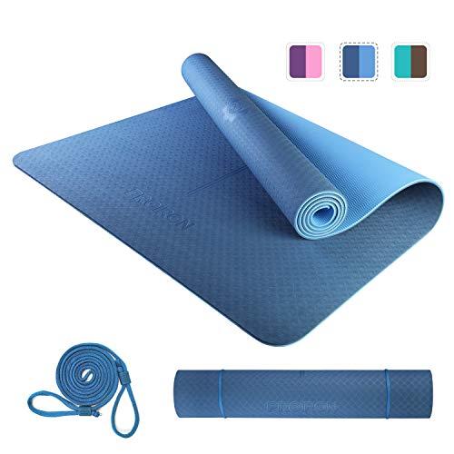 PROIRON yogamat trainingsmat sportmat antislip fitnessmat TPE materiaal, Pilates mat, 183 x 66 x 0,6 cm / 183 x 80 x 0,6…