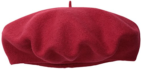 Dorfman Pacific Women's Wool Beret, Red, One Size