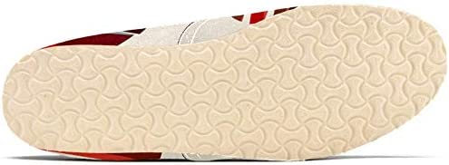 TIZORAX Slip on Mocassini da donna, a strisce colorate di cuore, comode, casual, in tela