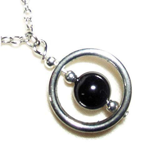- Spinner NECKLACE BLACK TOURMALINE Silver Plt GENUINE SEMI PRECIOUS GEMSTONE Metaphysical BLOCKS NEGATIVE ENERGY