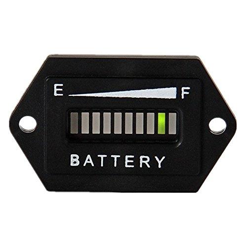 (AIMILAR Golf Cart Battery Meter Battery Charge Discharge Status Indicator Gauge for Lead-Acid Battery Club Car 12V 24V (12-24V))