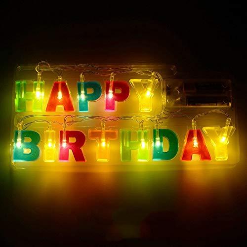 QAWSED Feliz Cumpleaños Letras Luces, Luces De La Bola ...