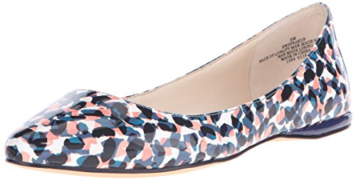 Nine West Ballet de Speakup sintética plana Blue/Multi Synthetic