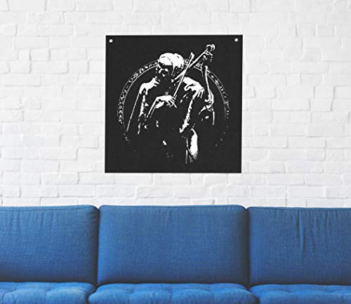 - Death as a Musician Wall Tapestry - Goat Skull Sigil of Lucifer Pentagram Dragon Demon Evil Mendes Goat's Head Gothic Metal Occult Punk Satan Satanic Voodoo Wicca Baphomet Leviathan Cross Inverted