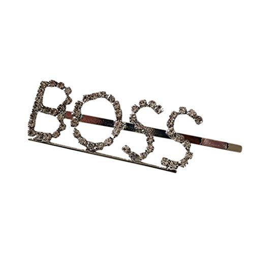 MiniPoco Women's Hairpin -Women Word Letters Hair Clip Slide Hair Pin Barrette Bridal Hair Accessory