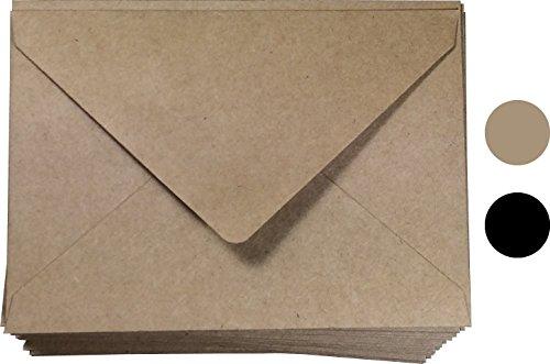 (A1 Envelope Kraft (4bar Envelopes) Size 100 Pcs, 3-5/8 X 5-1/8 Inches, Prefect for Gift Card, Thank You, Response Card envelopes, Fit 3.5 x 5 Card)