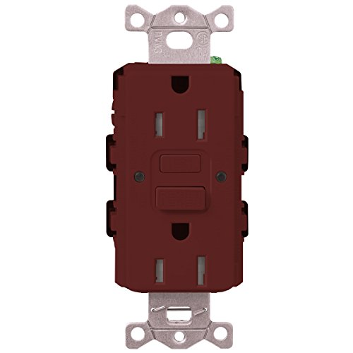 Lutron  SCR-20-GFST-MR  20-Amp  Tamper Resistant Self-Testing Receptacle, Merlot -  Lutron Electronics Company, Inc.