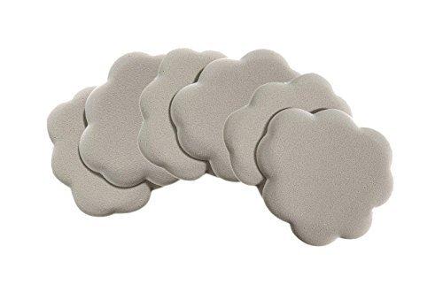 Foot Petals Silver Rose Tip Toes Foot Cushions, Triple Pack (Petals Rose Foot)