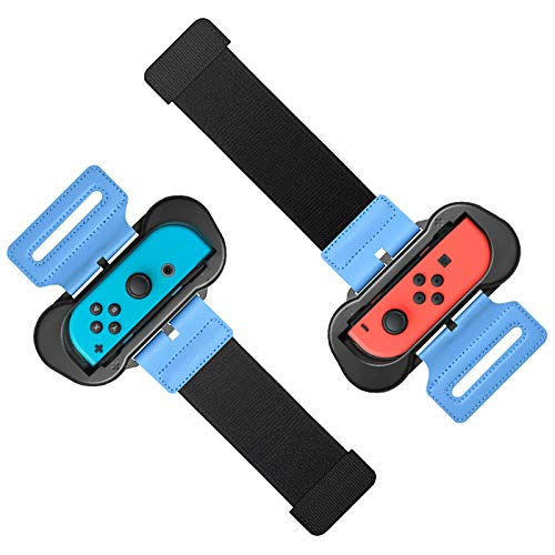 Wrist Bands for Just Dance 2020 2019 and Zumba Burn It Up for Nintendo Switch Controller Game, Adjustable Elastic Strap for Joy-Cons Controller, Two Size for Adults and Children