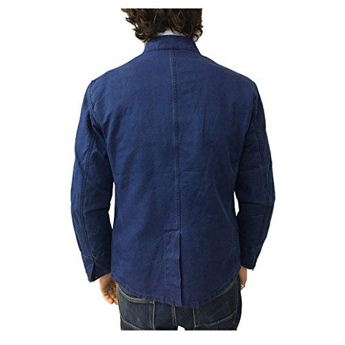 Sfoderata Giacca Blu Mod Uomo In Italy 76 Cotone Lino Made Manifattura Chiaro 24 Ceccarelli 6013 H4Fqff