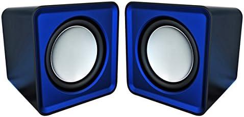 Omega OG01B - Altavoces 2.0, 6 W, con MiniJack y USB, color azul [España]: Amazon.es: Informática