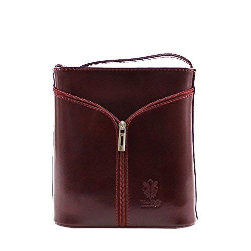 Vera Messenger Women Pelle Red Bag Burgundy qa1FAqw