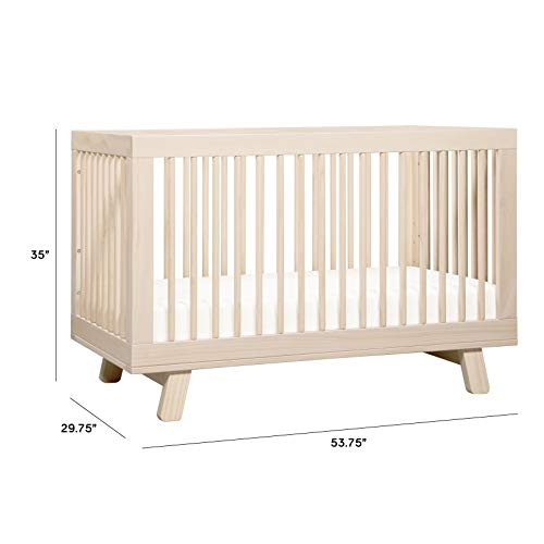 41kCvEYhr0L - Babyletto Hudson 3-in-1 Convertible Crib With Toddler Bed Conversion Kit In Washed Natural, Greenguard Gold Certified