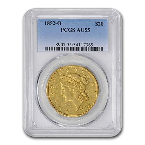 1852 O $20 Liberty Gold Double Eagle AU-55 PCGS G$20 AU-55 PCGS