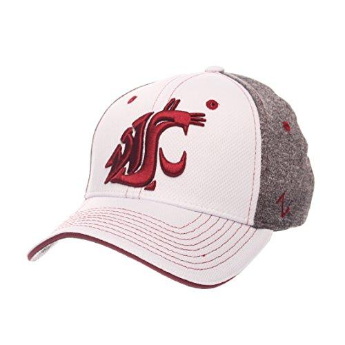 (Zephyr NCAA Washington State Cougars Adult Men Equinox Hat, Medium/Large, White/Heather Gray)