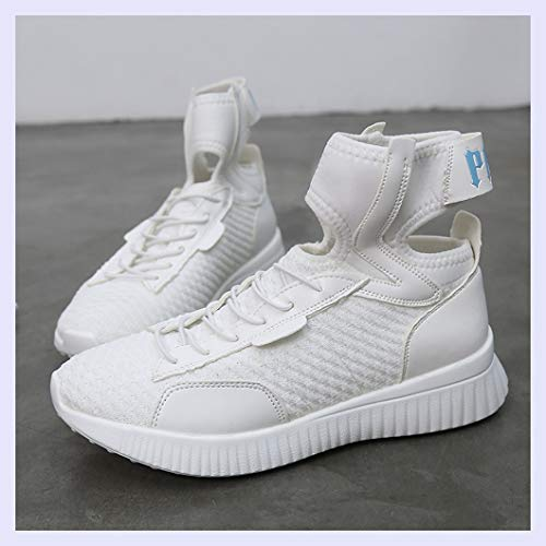Tie XINGMU Female Sock Hop Profile Hip Sneakers White High Shoes xqqwER0Fr