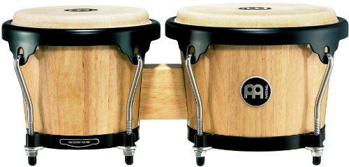 Meinl Percussion Bongo With Hardwood Shells - NOT MADE IN CHINA - Natural Finish, Buffalo Skin Heads, 2-YEAR WARRANTY, HB100NT)