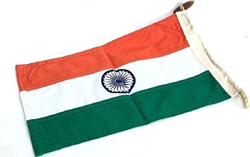 National Flag India – Tiranga I Handspun and Handwoven Cotton Khadi Flag of India | | Made in India |Outdoor Cloth Flag