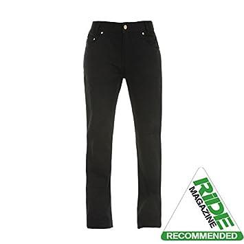 Bull-It Ladies Ebony SR6 Motorcycle Jeans Pants Black Xlong 35//W10
