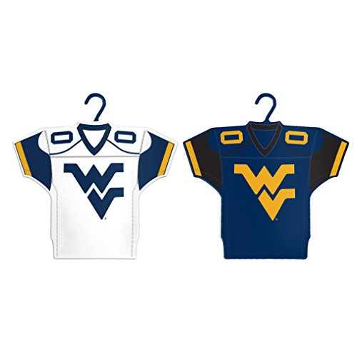 NCAA West Virginia Mountaineers Home & Away Jersey Ornament, 2-Pack