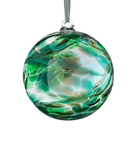 (Sienna Birthstone Glass Friendship Ball May, Emerald)