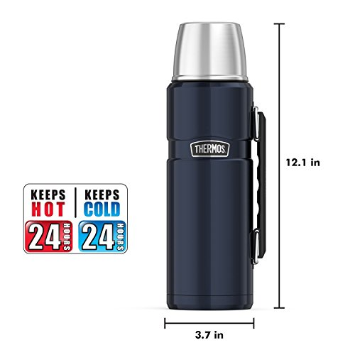 Stainless Thermos King 40 Ounce Beverage Bottle