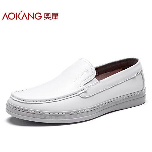 Aemember Scarpe Casual uomini e molla selvatici mettere piede a basso flusso della Gioventù Maschile di scarpe quotidiana ,41, bianco