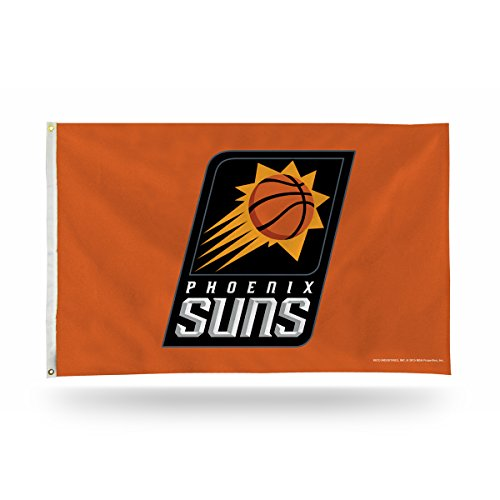 Rico Industries NBA Phoenix Suns 3-Foot by 5-Foot Single Sided Banner Flag with Grommets