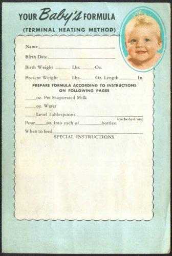 Pet Milk Baby's Formula Heating Method folder 1955