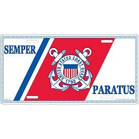 - US Military Armed Forces License Plate - USCG U.S. Coast Guard - United States Coast Guard