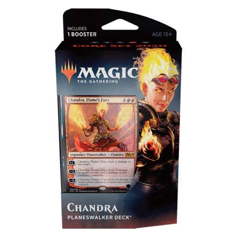 Magic The Gathering: MTG: Core Set 2020 Planeswalker Deck - Chandra w/Booster Pack (Red)