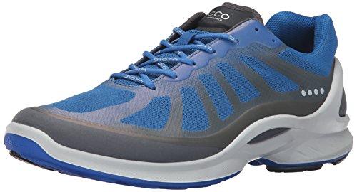 ECCO Men's Biom Fjuel Racer Sneaker, Dark Shadow/Bermuda Blue 44 EU/10-10.5 M US