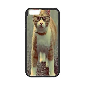 Iphone 6 Plus Case, geek cat Case for Iphone 6 Plus 5.5 screen Black tcj571832 tomchasejerry