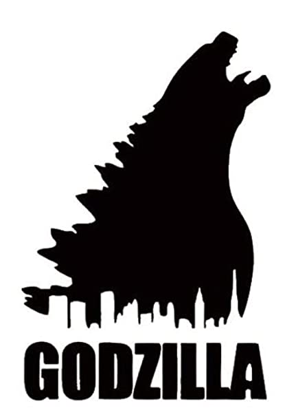 Godzilla Horror City Silhouette 5 5 Logo Decal Sticker For Laptop Car Window Tablet Skateboard Black Color Amazon In Home Kitchen