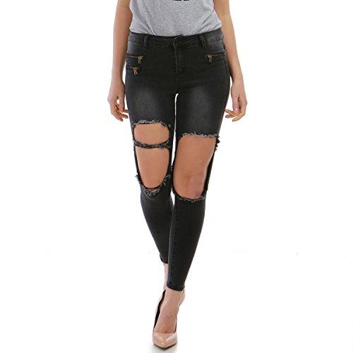 La Modeuse - Jeans Destroy Noir