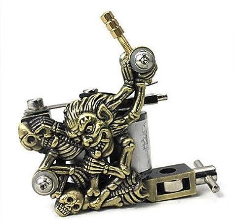 GAG-Máquina de tatuajes @ Máquina de Tatuar de Bobina Máquinas de Tatuaje professiona Legierung Línea y Sombra Ensamblado a Mano: Amazon.es: Juguetes y juegos