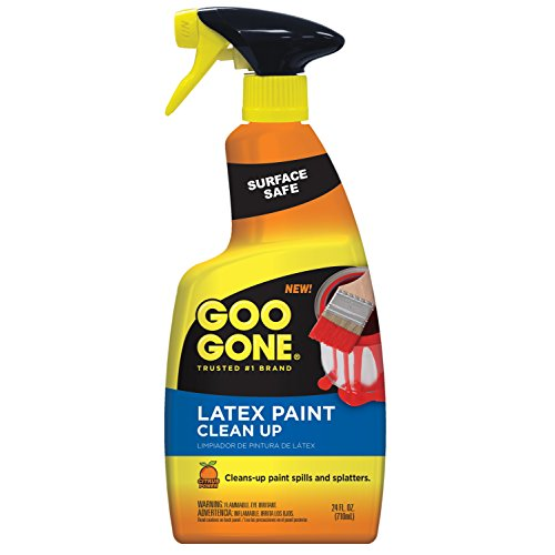 Thinner Paint - Goo Gone Latex Paint Cleaner, Surface Safe Clean Up Spray For Wet or Dry Paint, 24 Ounce