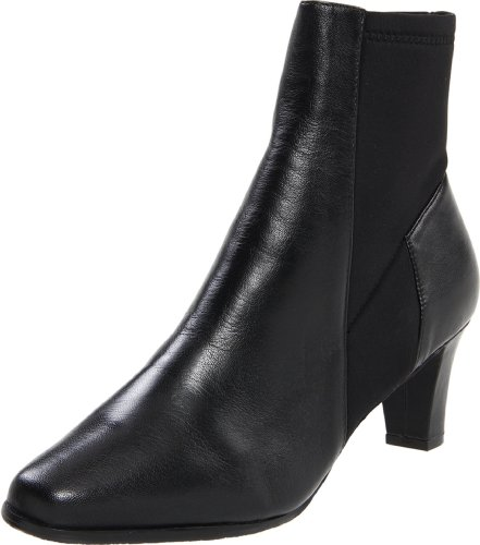 Trotters Women's Janet Ankle Boot,Black Burnished Leather,10 N (Ankle Boots Janet &)