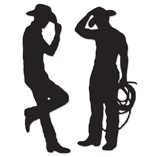 (Beistle 54225 Cowboy Silhouettes, 35-Inch and 37-Inch)