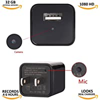 Hidden Spy Camera USB Charger Adapter,1080P HD Real USB Wall AC Plug Charger with 32 GB Internal Memory Spy Camera for Clear Video to Secure your Home and Business-Updated Version