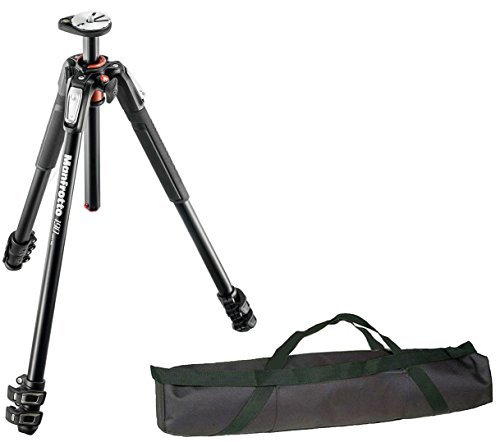 Manfrotto MT190XPRO3 3 Section Aluminum Tripod Legs with Q90 Column w/ Calumet 35'' Carrying Case … by Calumet