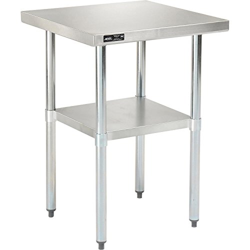 Nexel WB2424SS Stainless Steel Worktable with Under Shelf, 24