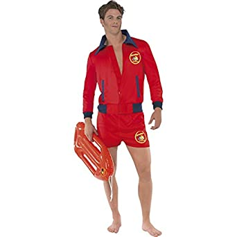 Medium Mens Baywatch Lifeguard Costume  sc 1 st  Amazon.com & Amazon.com: Smiffyu0027s Menu0027s Baywatch Lifeguard Costume: Clothing