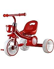دراجه أطفال ثلاثيه العجلات بموسيقى واضاءه اللون الاحمر
