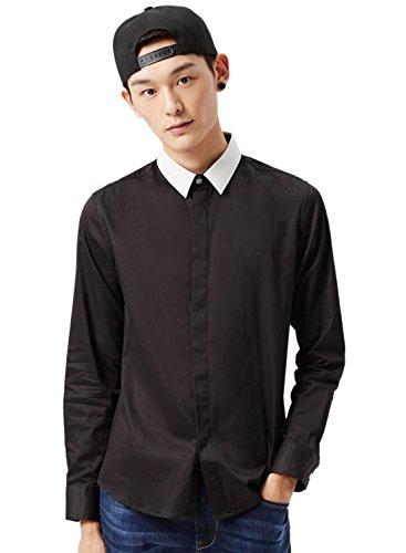 meters-bonwe-mens-color-block-point-collar-long-sleeve-single-breasted-shirt-black-m