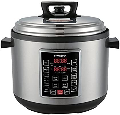 4th-Generation Electric Pressure Cooker with Steam Rack Basket Rice Scooper 6 QT