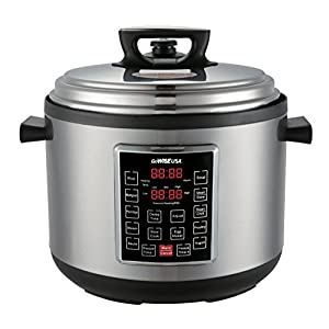 GoWISE USA GW22637 4th-Generation Electric Pressure Cooker with rice scooper, and measuring cup, 14 QT 10